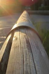 Früh am Morgen - Holz in der Morgensonne