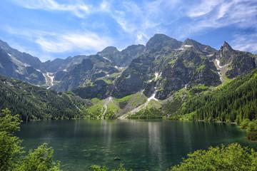Obraz Sea Eye lake in the Polish Tatras. Lake of the top five best lakes in the world - fototapety do salonu