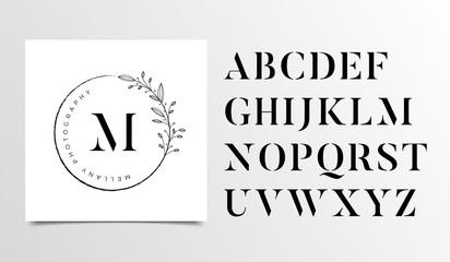 Feminine Floral letters logo design template - Vector