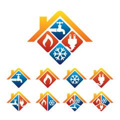 Home renovations and repairs logo