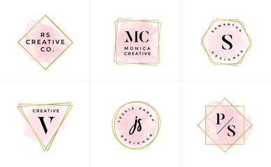 Set of Feminine Vector Signs or Logo Templates - Vector Wall mural