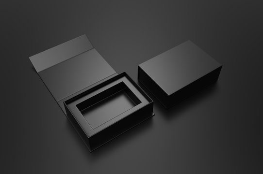 Blank folding box, 3d render illustration.