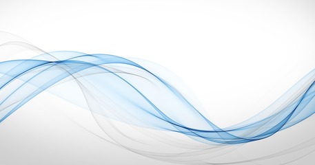 Poster Abstract wave stylish soft blue curve lines abstract background