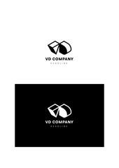 V D company logo template.