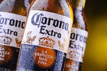 Bottles of Corona Extra beer