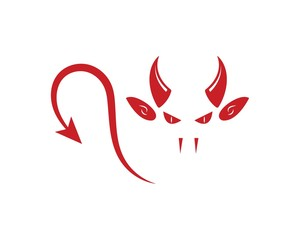 devil horns logo icon vector illustration design