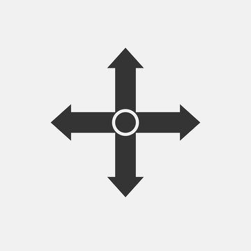 All directions road vector icon illustration sign