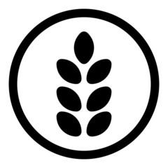 Gluten Free Food vector icon. Allergy Product Dietary illustration symbol.
