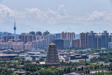 Fotobehang - modern xian cityscape