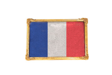 france flag painted in frame photo