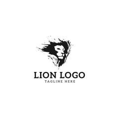 Splash Lion Head Logo Design Template - Vector