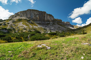 On the Hiking path up to the Summit of the Hoher Ifen mountain / Austria