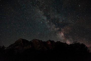 Beautiful Milky Way above the Reiter Alp in Berchtesgaden, Germany