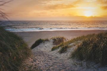 In de dag Noordzee Sonnenuntergang an der dänischen Nordseeküste