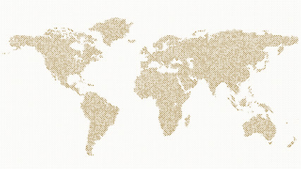 Halftone world map background Wall mural