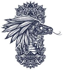 Kukulkan. Feathered Serpent. Quetzalcoatl. Mesoamerican mexico  mythology. Tattoo and t-shirt design. Mystery Of Ancient Maya Civilization. Chichen Itza statues
