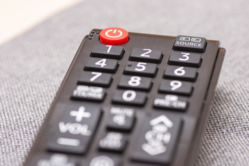 Closeup to smart TV remote control