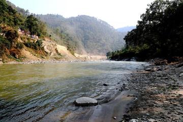 Aluminium Prints New Zealand ganga river in india