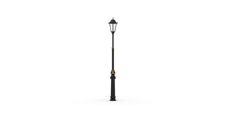 Outdoor Street Lamp on White 3D Rendering Fotomurales