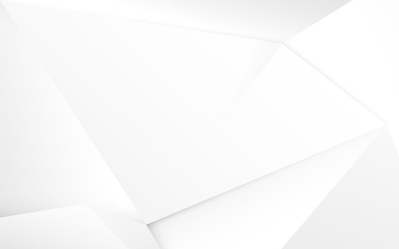 Abstract white 3d chaotic polygonal surface background. Illustration vector