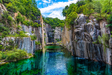 Granite valley The emerald green embrace. at pocheon Art valley, South Korea.