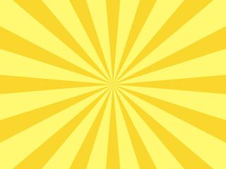 放射状の背景 黄色