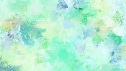 Poster Groene koraal bright brushed painting with pale turquoise, blue chill and medium aqua marine colors. use it as background or texture