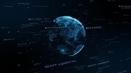 先進 5G AI 人工知能 フィンテック Fintech MaaS ICT ブロックチェーン 3D VR Wall mural