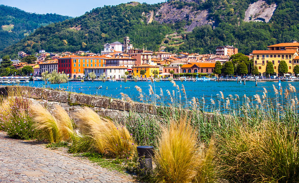 Paratico and Sarnico on the Lago d Iseo in Lombardy Italy