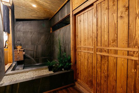 Ryokan series: Bathroom in ryokan