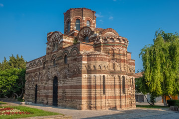 Church of Christ Pantocrator, a medieval Eastern Orthodox church in Nessebar (Nesebar), Burgas, on Bulgaria's Black Sea coast. A UNESCO World Heritage Site