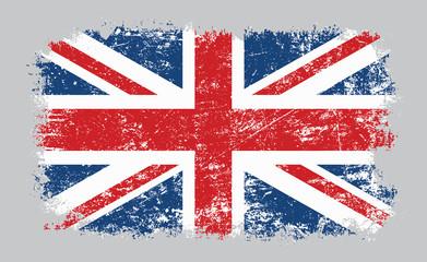 Grunge old UK British flag vector illustration Fotoväggar