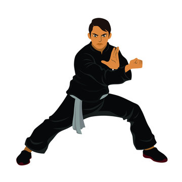 Vector of Silat Martial Arts from Indonesia - Pose 4