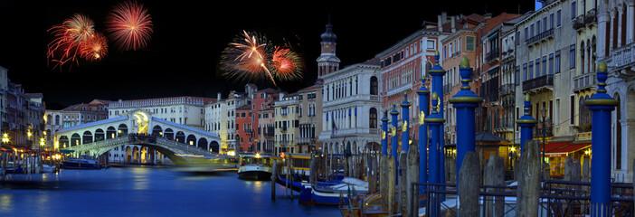 Fotobehang Venice Venice fireworks