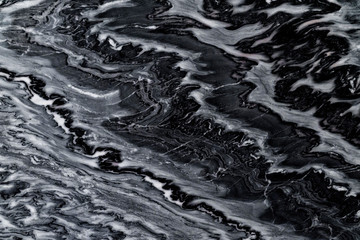 Canvas Prints Marble black color pattern water wave special natural line marble background