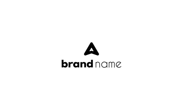 Vector logo which depicts the letter A in the form of an arrow up.