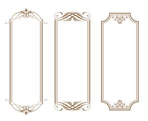 アンティークフレーム ゴージャスで高級感のあるフレームテンプレート ビンテージ風 レトロ調 装飾素材