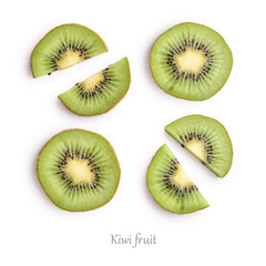 Wall Mural - Kiwi slices as pattern