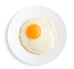 Fond de hotte en verre imprimé Ouf Fried egg on plate