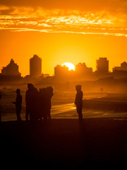 Pôr-do-sol na praia