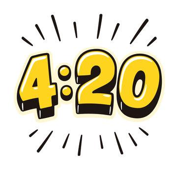4:20 cartoon lettering