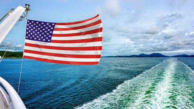American Flag Flying .