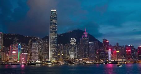 Wall Mural - Hong Kong skyline at night