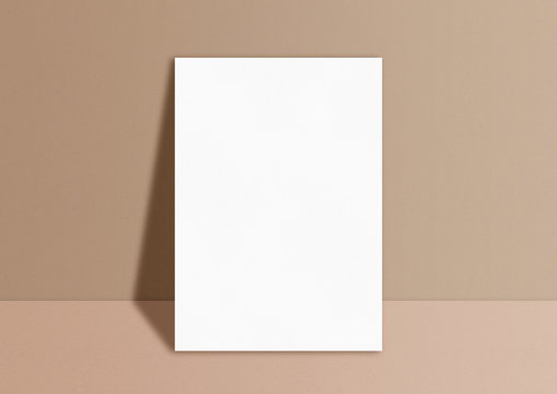 Paper A4 photo mockup. Empty paper photo mockup with clipping path.