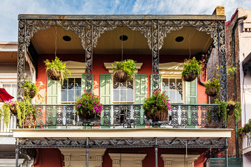 New Orleans French Quarter balcony Fotomurales