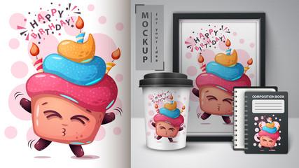 Happy birthday - mockup for your idea