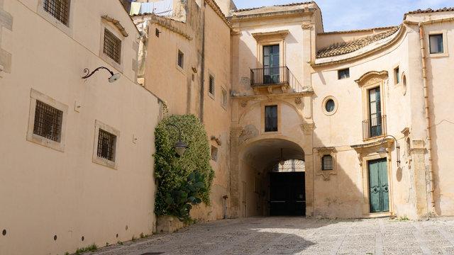 Noto, Sycylia, Włochy, schody, katedra,
