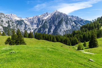 Wall Mural - Idyllic mountain landscape. Austria, Gnadenwald, Tyrol Region