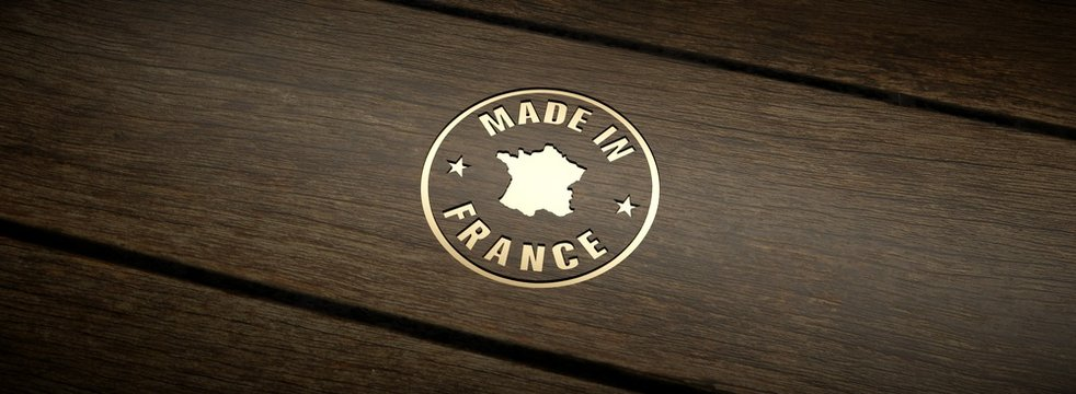 Stamp made in France, engraved in wood with gold inlays.