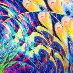 Foto op Canvas Paradijsvogel Abstraction pattern for decorate fabric and textile, create pretty booklets, brochures, cards backdrop and graphic background for digital and web products, contemporary massive volume strokes of paint